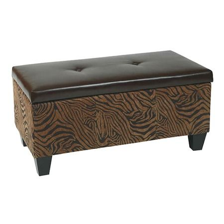 I Pinned This Detour Storage Bench In Zebra From The Avenue Six Event At Joss And Main Leather Storage Bench Storage Bench Leather Storage Ottoman