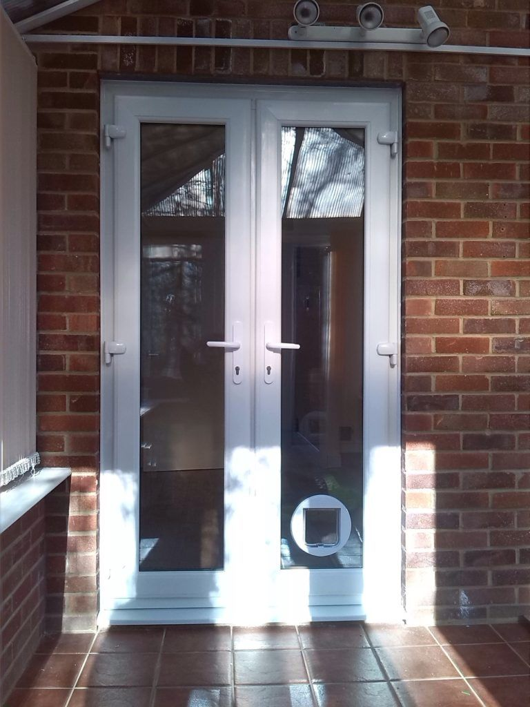 Upvc Patio Doors With Cat Flap Upvc Patio Doors Upvc French Doors Glazed Door