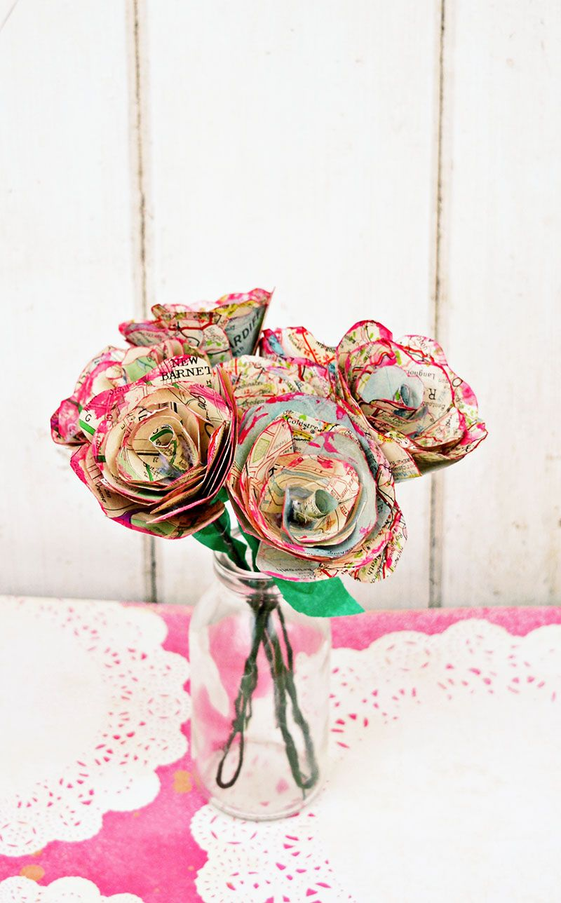 How to Make Simple but Beautiful Map Roses  Table decorations