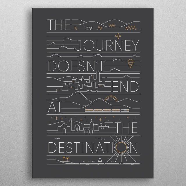 THE JOURNEY by Rick Crane | metal posters - Displate | Displate thumbnail