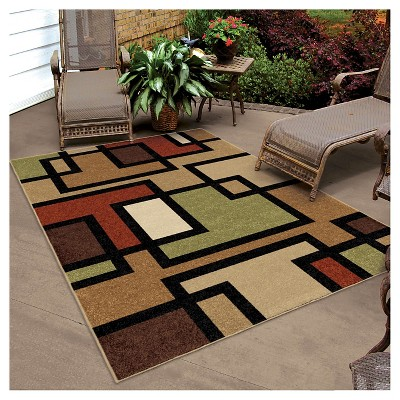 Orian Rugs Blended Blocks Napa Transitional Area Rug (5u00272
