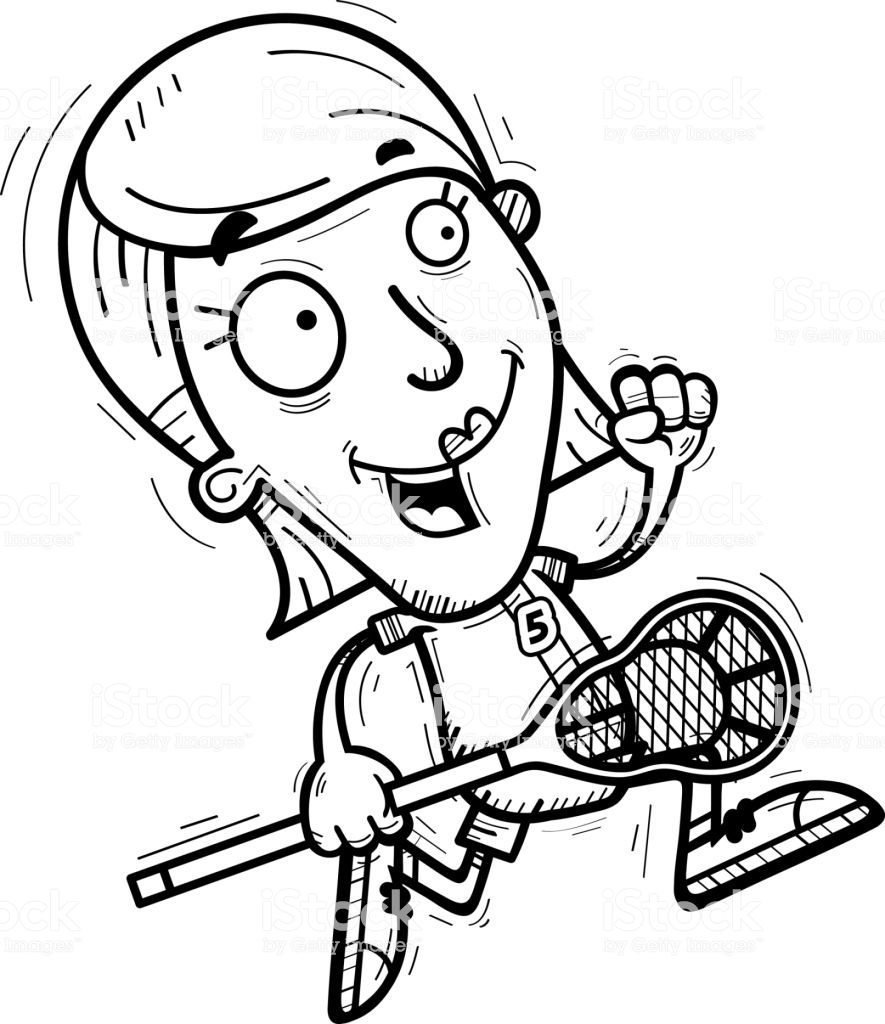 Pin By Rusty Hewitt On Canvases Lacrosse Player Lacrosse Cartoon Illustration