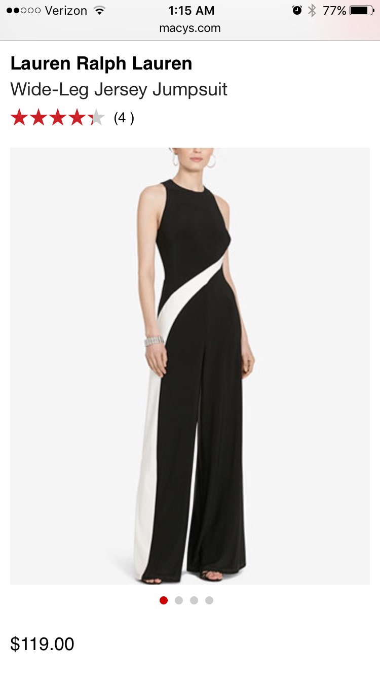 I love this classic and elegant Ralph Lauren jumpsuit, was a good buy!!!!