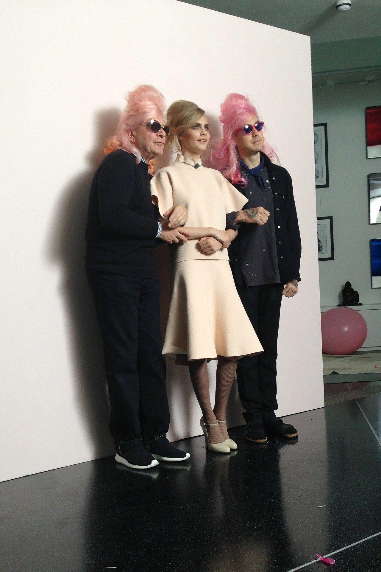 Cara Delevingne Vogue Shoot - Behind The Scenes Pictures