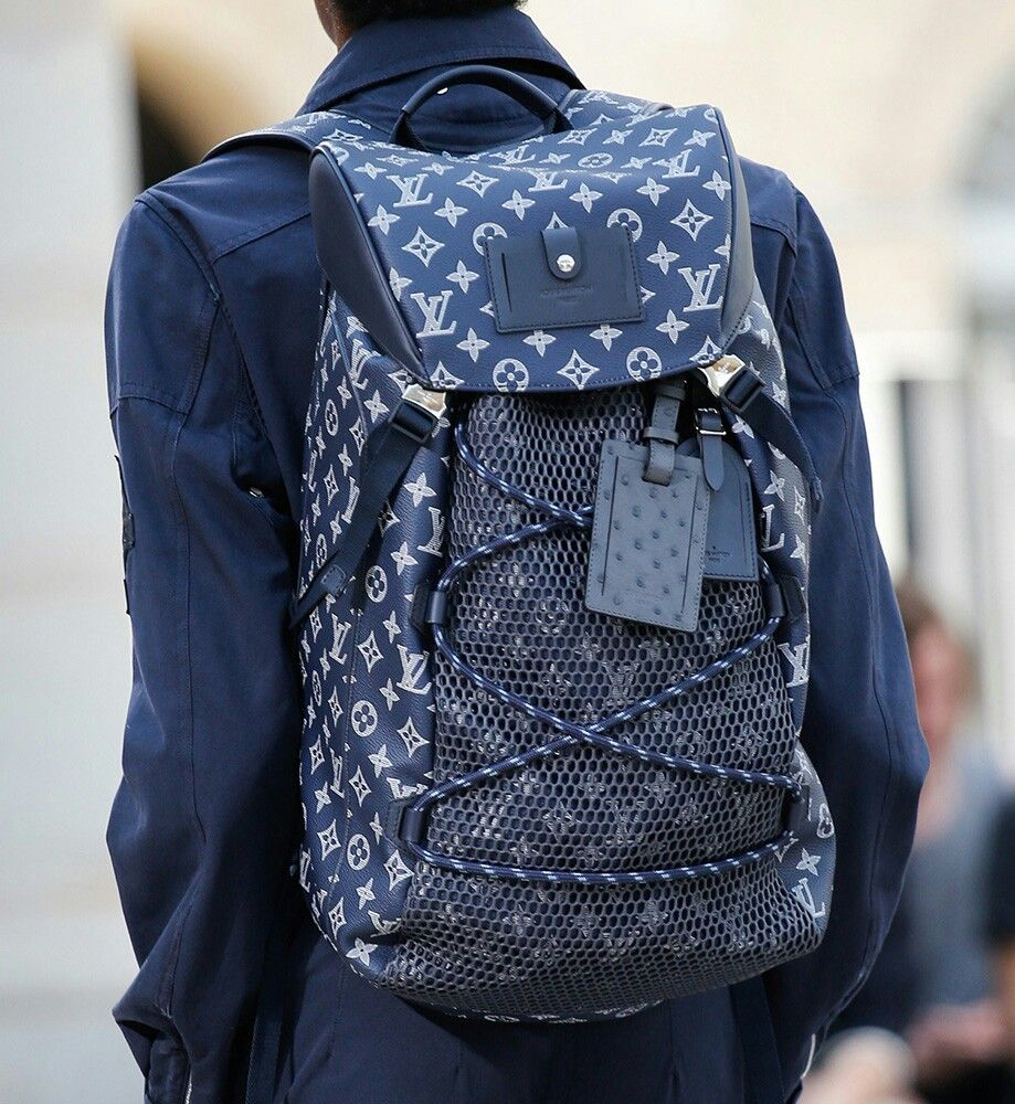 Louis Vuitton 2017 Men s Collection Navy Blue Backpack 👌😎  6cfba24e75af2
