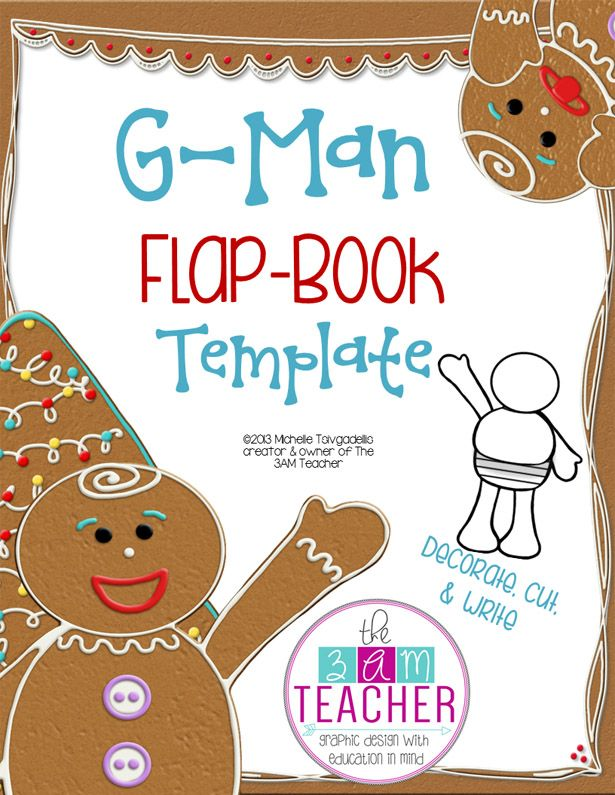 Free! Printable G-Man Flap-Book Template By The 3Am Teacher