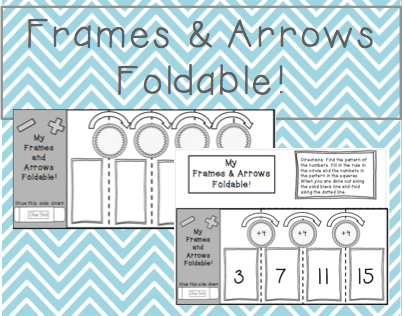 Frames and Arrows Foldable 1&2 Rules | Matematika