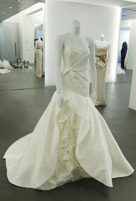 Vera Wang white insert textured dress
