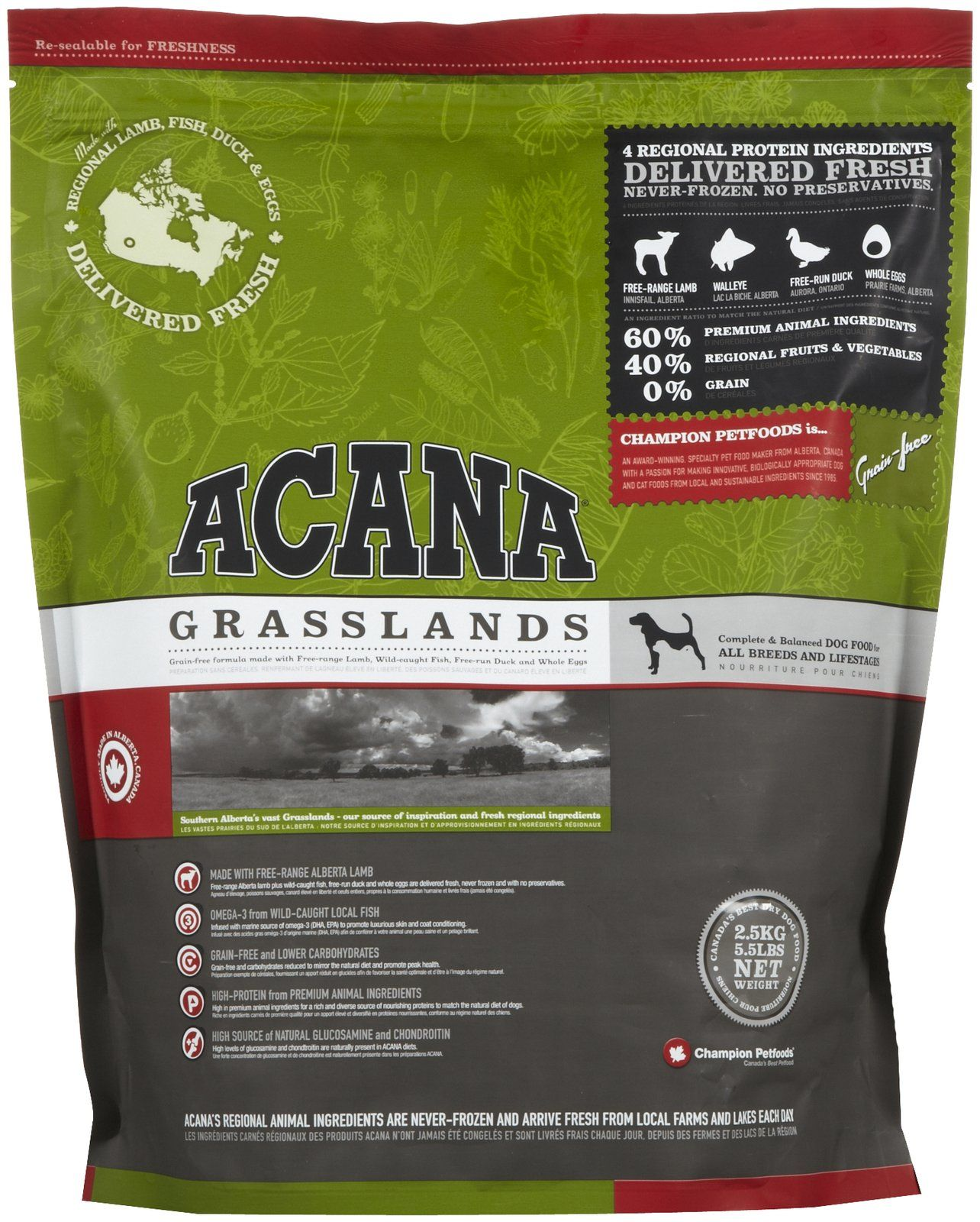 Acana Grasslands Made With Whole Real Foods Read Your Dog Food