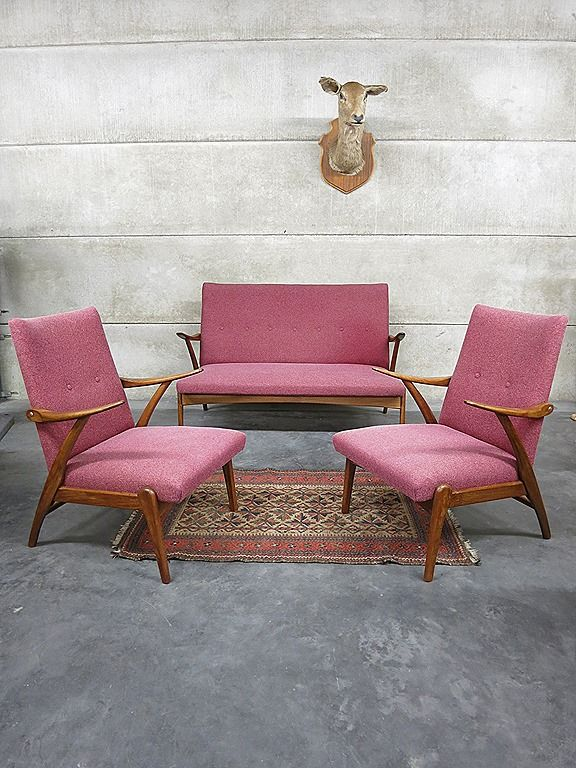 Mid Century Design Lounge Set Seating Group Vintage Design Lounge Bank Sofa Fauteuil Bestwelhip Stoelen Fauteuil Stoffering