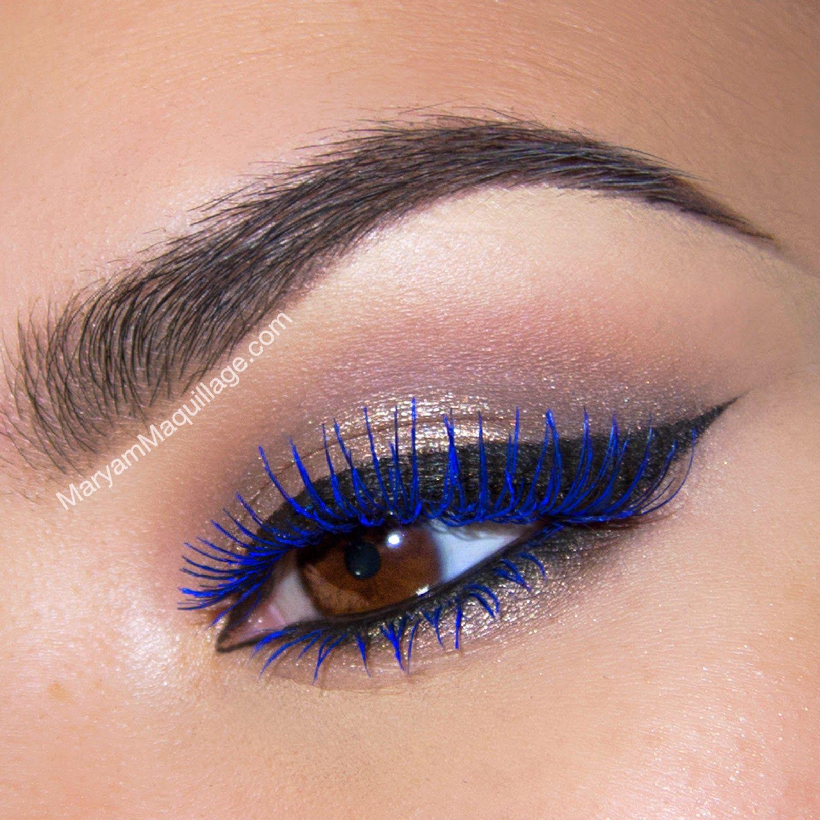 Summer Makeup Blue Lashes Blue mascara, Blue makeup