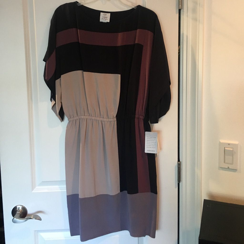 silk colorblocked brand new dress color blocking silk