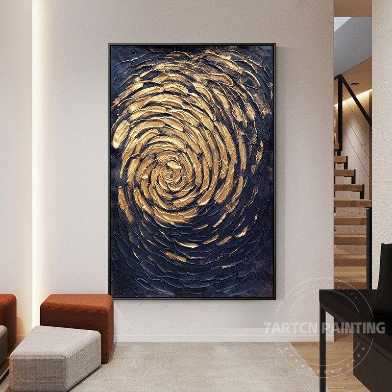 Set Of 2 Framed Wall Art Modern Abstract Gold Black White Hand Etsy In 2021 Painting Art Framed Wall Art