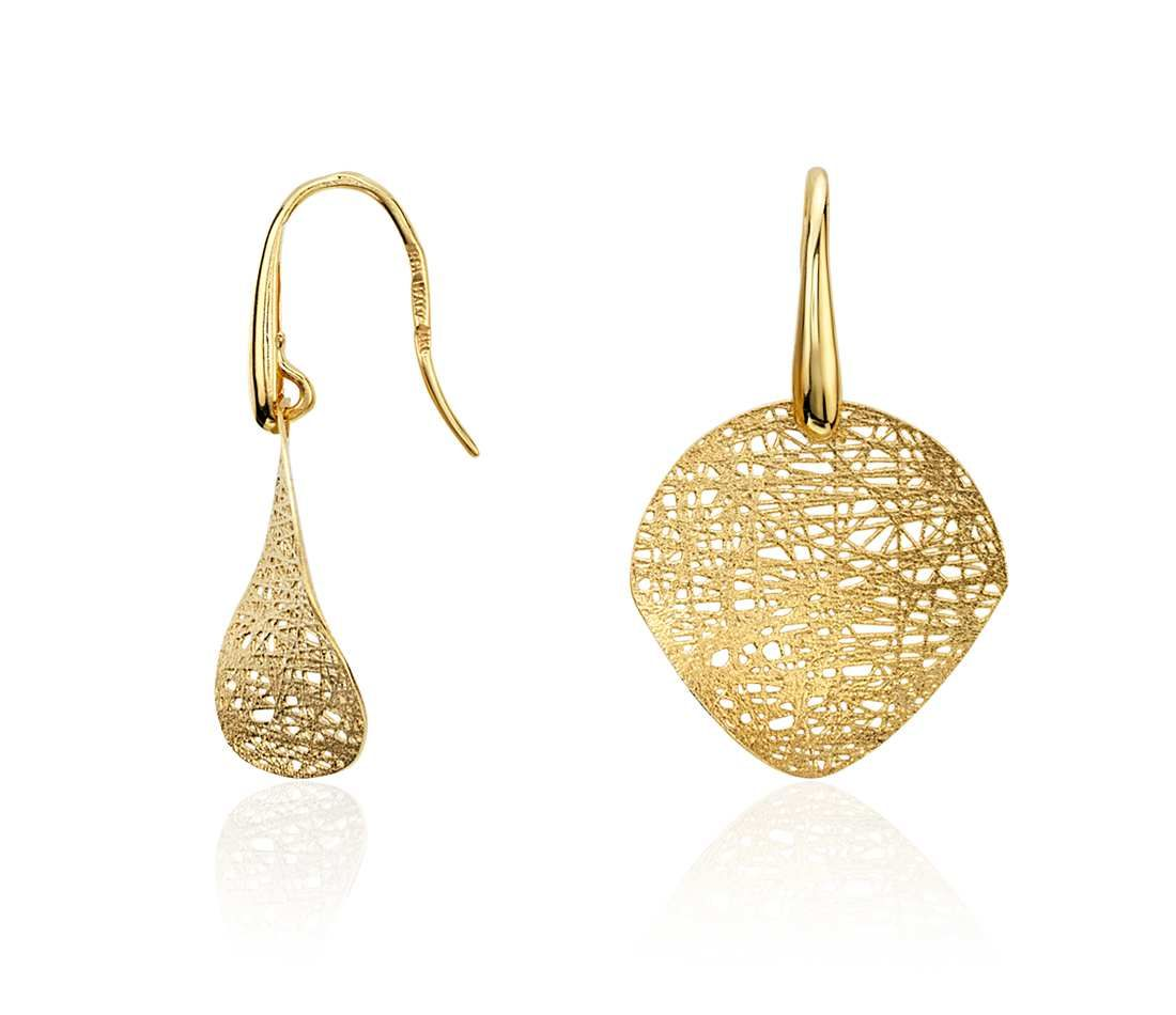 Woven Disc Drop Earrings In 14k Yellow Gold Blue Nile