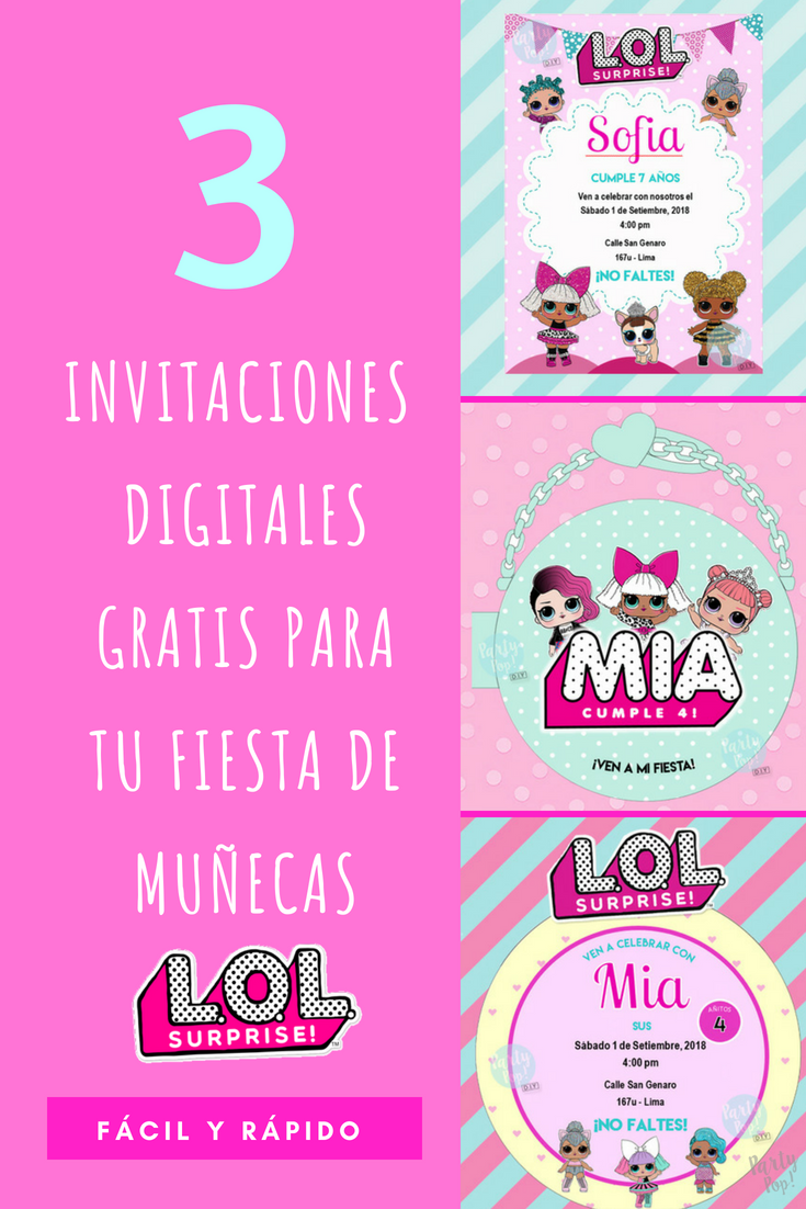L O L Surprise Invitaciones Digitales Party Pop