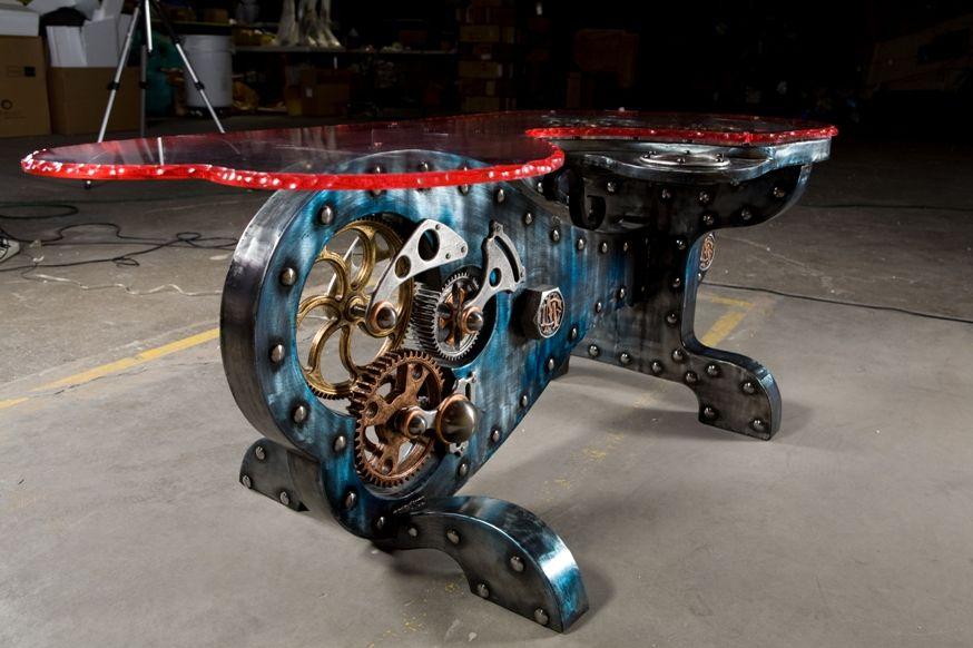 dale mathis – steel coffee table   clockwork   pinterest   steel