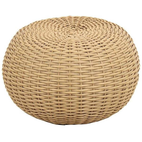 Terrific Wicker Pouf Brown Threshold Target 32 Aud Liked Machost Co Dining Chair Design Ideas Machostcouk