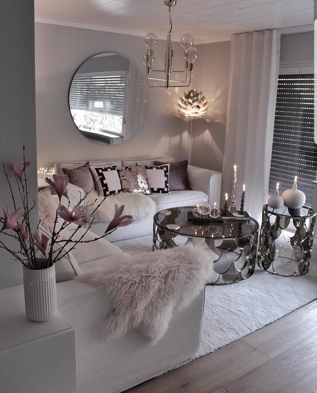 Modern Glam Living Room Decorating Ideas 19: Security Check Required In 2020