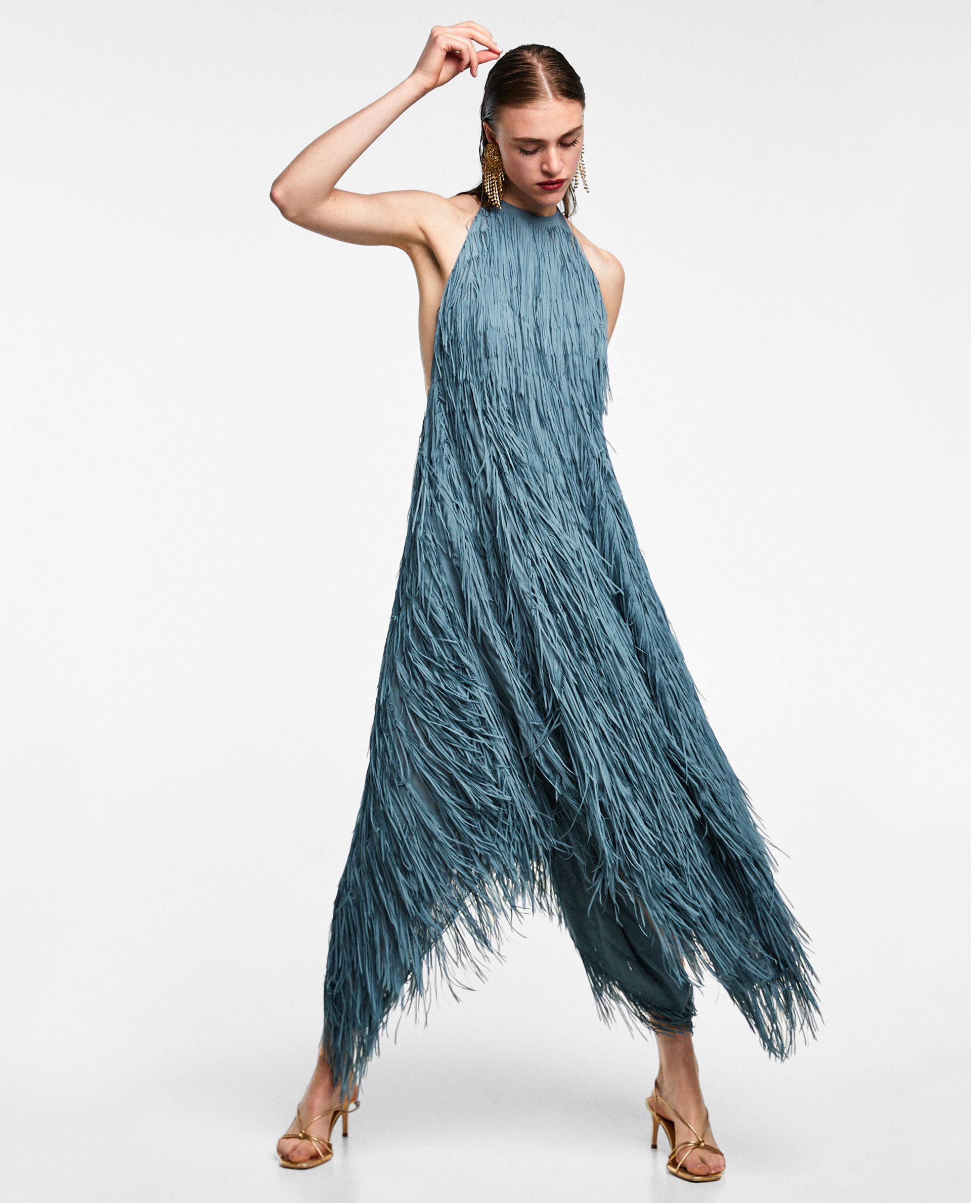 61c07855 VESTIDO HALTER FLECOS | Let's make bold statements. | Fringe dress ...