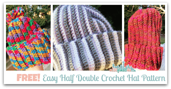 How to Crochet Video: Free Hat Pattern for Scrap Yarn | Afghan ...