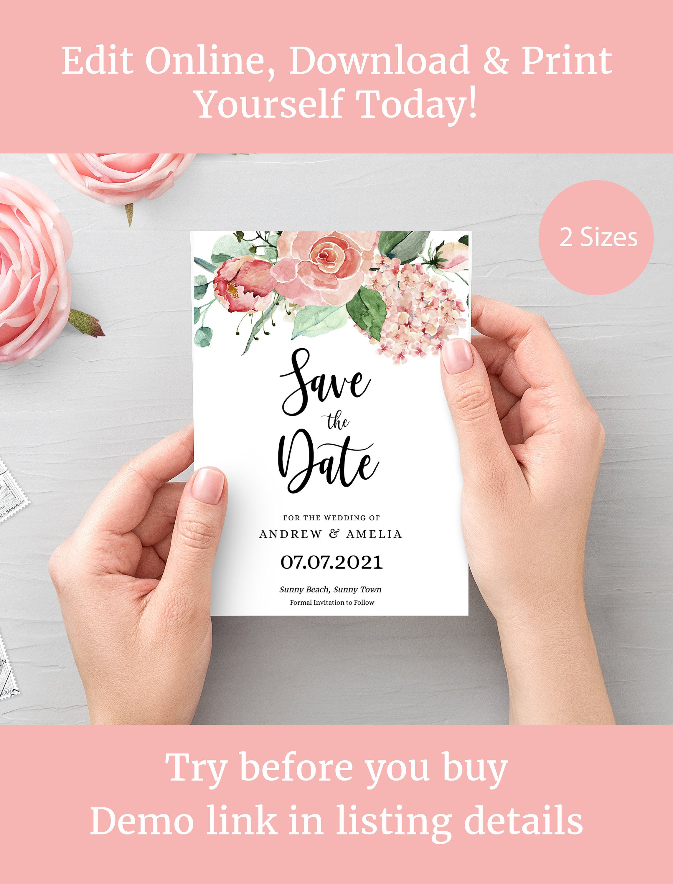 save the date template  save the date printable  editable