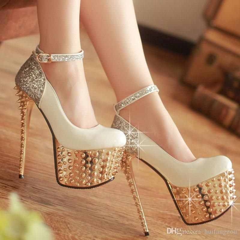 2015 Sparkling New Wedding Shoes Red White Black Brand New Women's ...