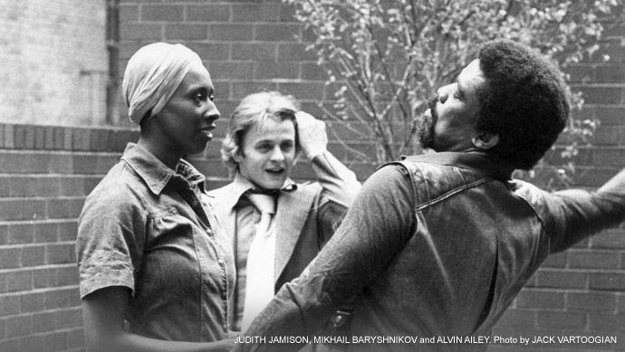 Judith Jamison, Alvin Ailey and Mikhail Baryshinkov