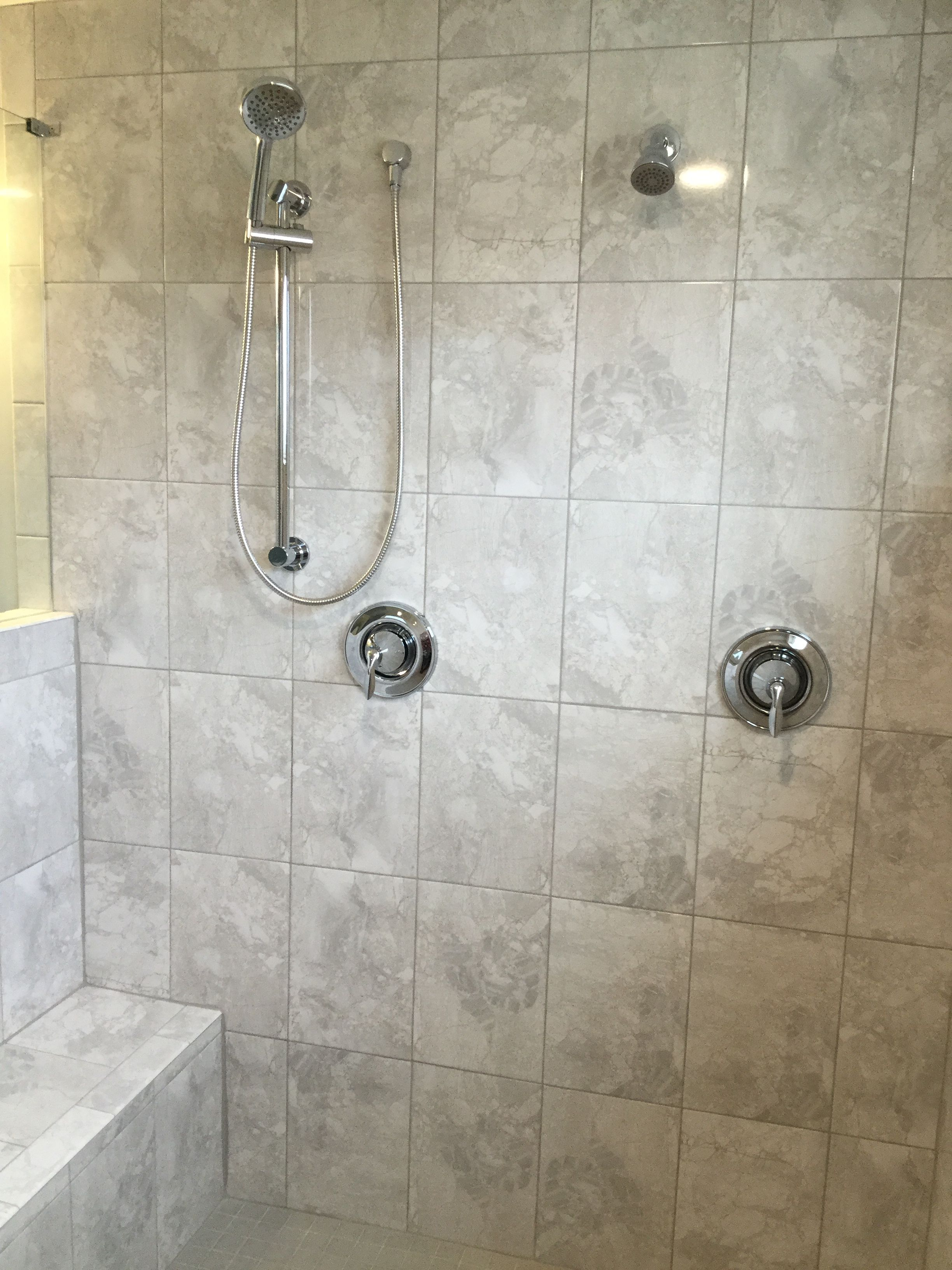 MARBLE FALLS 10X14 WHITE WATER - WALL TILE INSTALLED ...