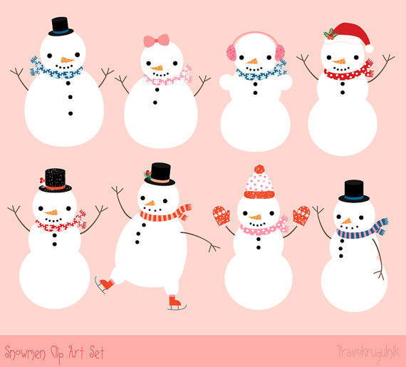Snowman Clip Art Christmas Snowman Digital Download Winter Clipart Clip Art Art Collectibles Delage Com Br