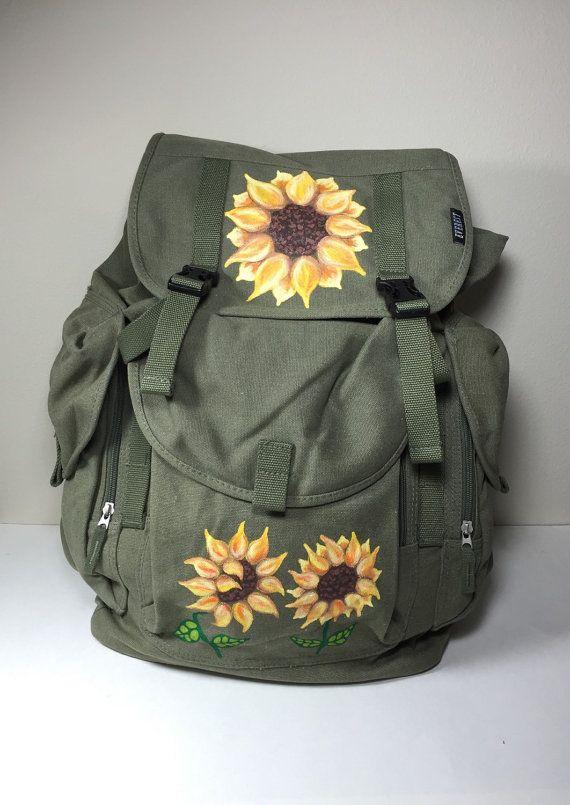 7ec46f490762 Sunflower Backpack Everest Canvas Olive Green Large Canvas Hand ...