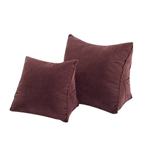 Leather Sleeper Sofa Halovie Triangle Pillow Back Wedge Cushion Sofa Bed Office Chair Rest Cushion Back Support Throw Pillow