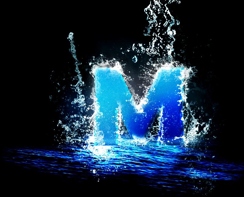 Letter M In A Splash Of Water M Wallpaper M Letter Images Eyes Wallpaper