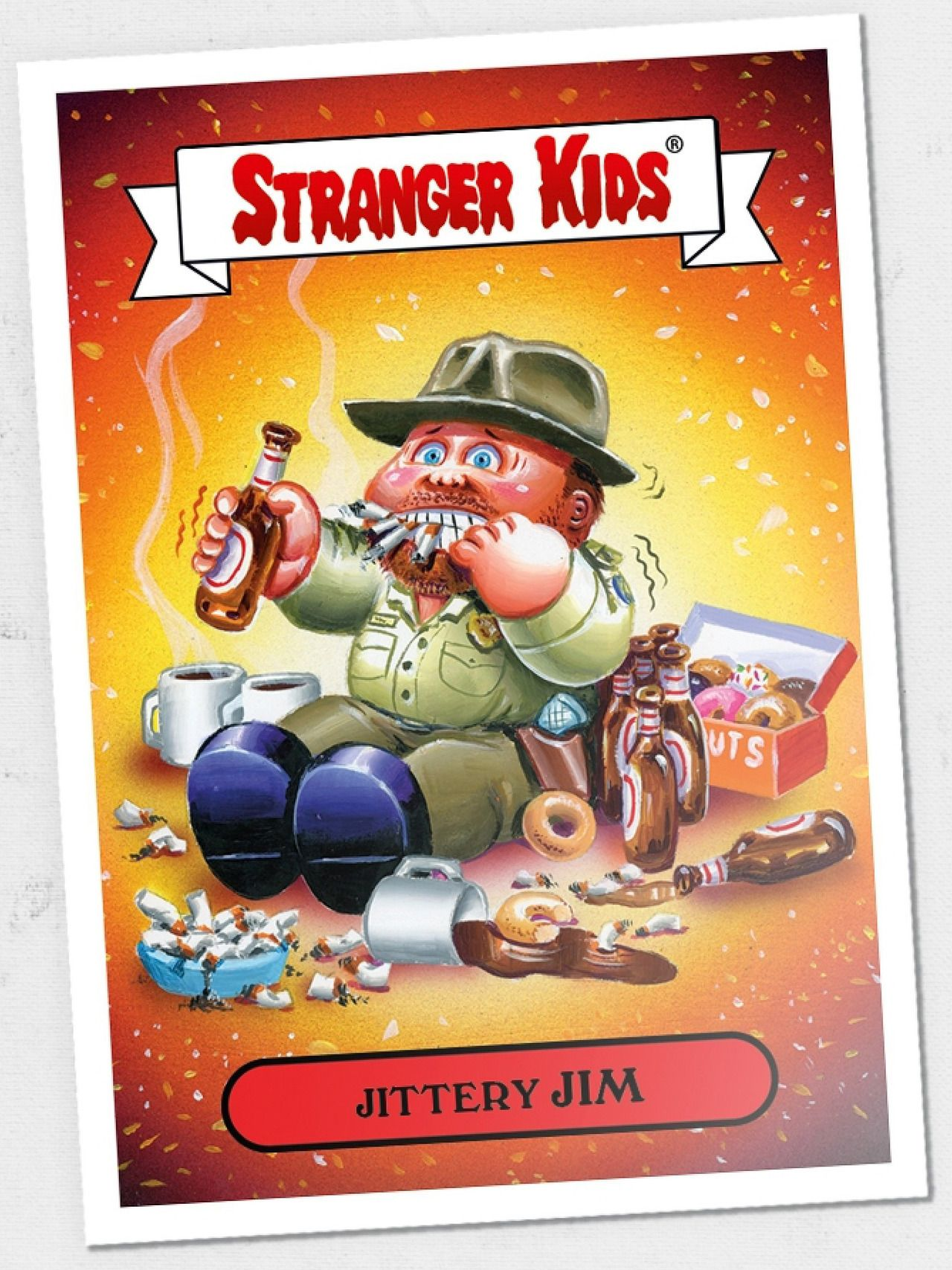 In Honor Of Stranger Things Day Garbage Pail Kids Has Created Stranger Kids A Series Of Trading Card Garbage Pail Kids Cards Garbage Pail Kids Kids Stickers