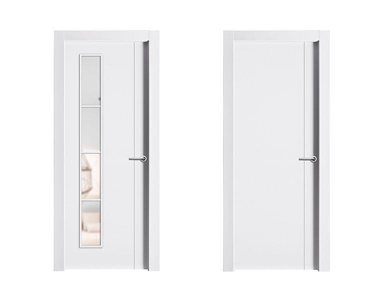 Puerta de interior blanca modelo degas de la serie for Puertas castalla