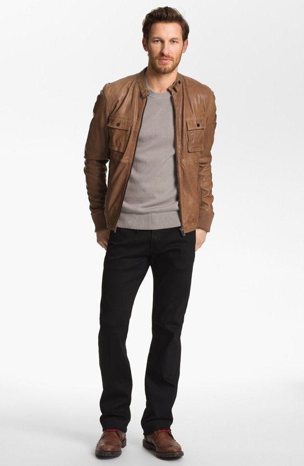 Um look com jaqueta de couro pra casualizar por aí. d3231d1aa1cac