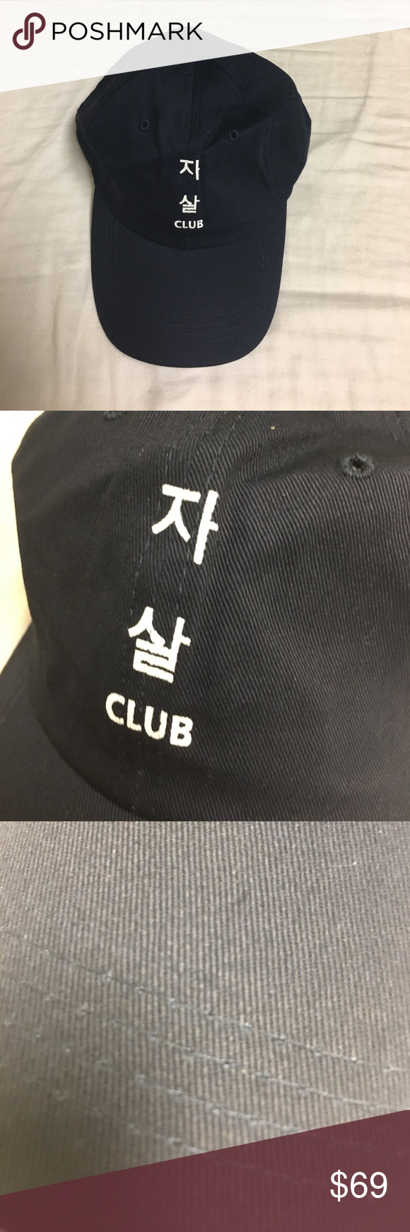 a6b699dd6544 ASSC Navy Blue Korean Dad Hat Brand New. ASSC has no tags. Never worn