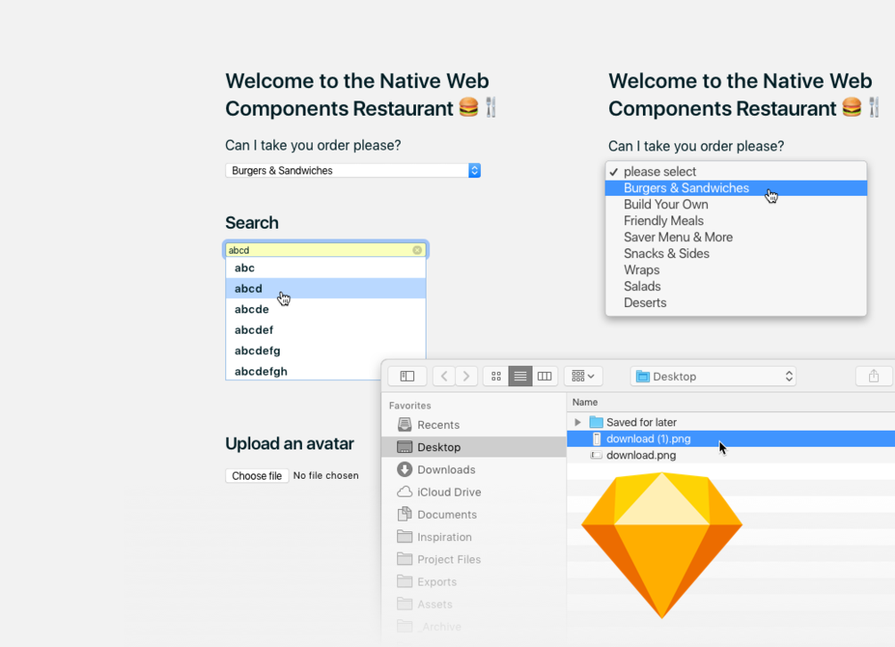 Sketch Library Web Components With Images Sketch App Design