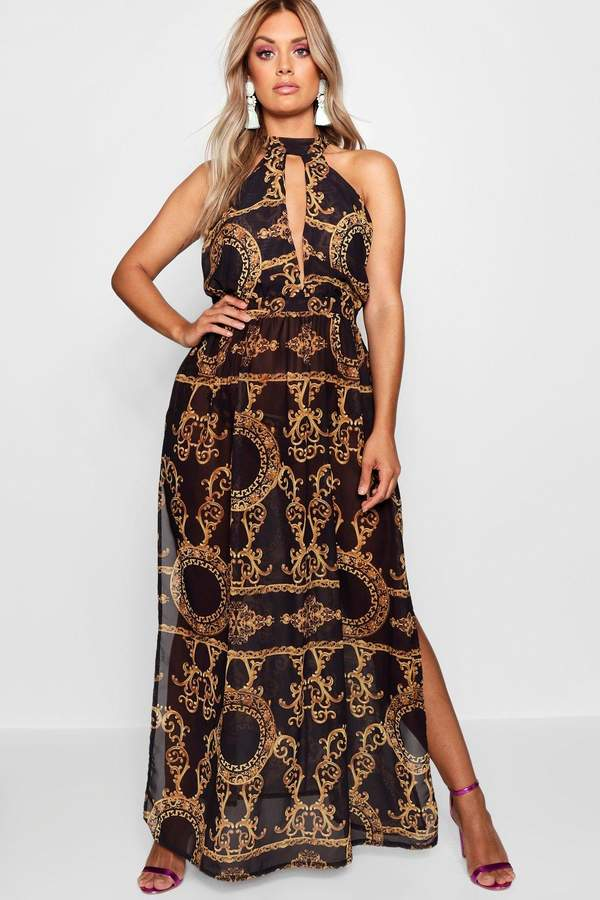 e594cc048619 Plus Collins Chain Print Maxi Beach Dress in 2019 | Gemma Collins ...