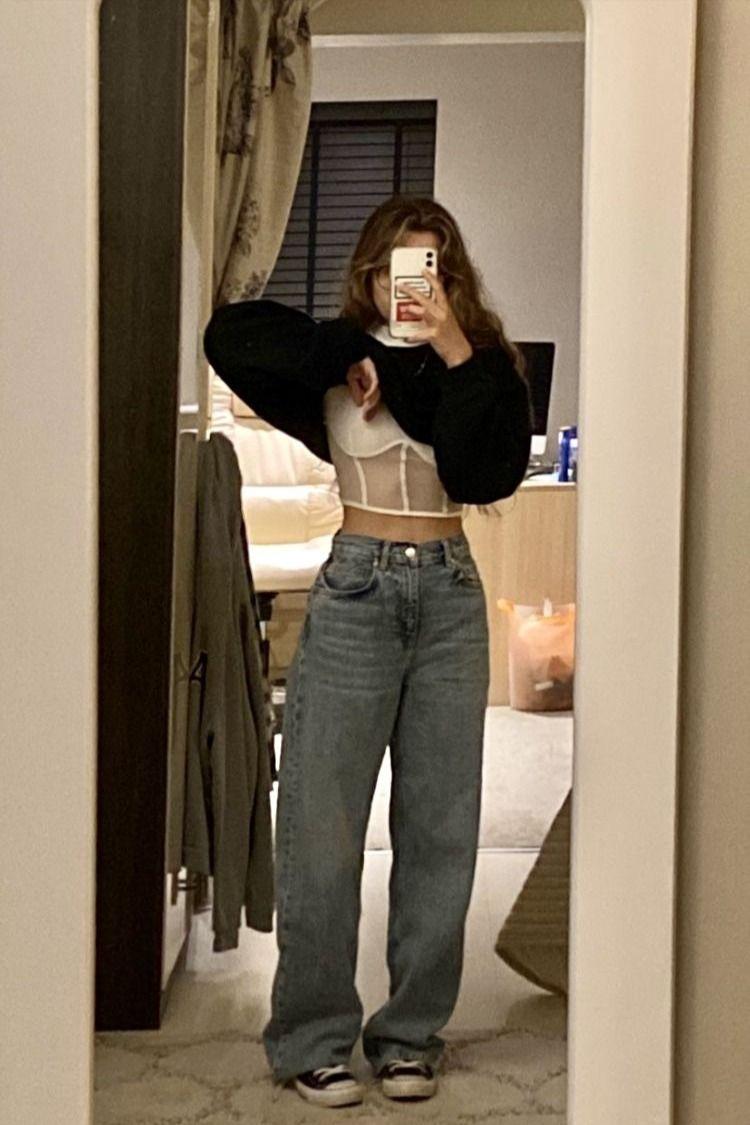 baggy vintage jeans|OUTFIT INSPO