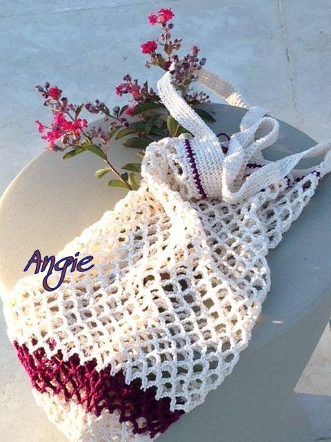 CROCHET MARKET BAG - borsina shopping che ho realizzato in cotone all'uncinetto