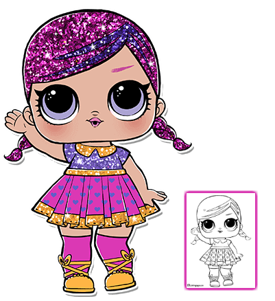 Lol Surprise Doll Coloring Pages Color Your Favorite Lol Surprise Doll Lol Dolls Coloring Pages Barbie Coloring Pages