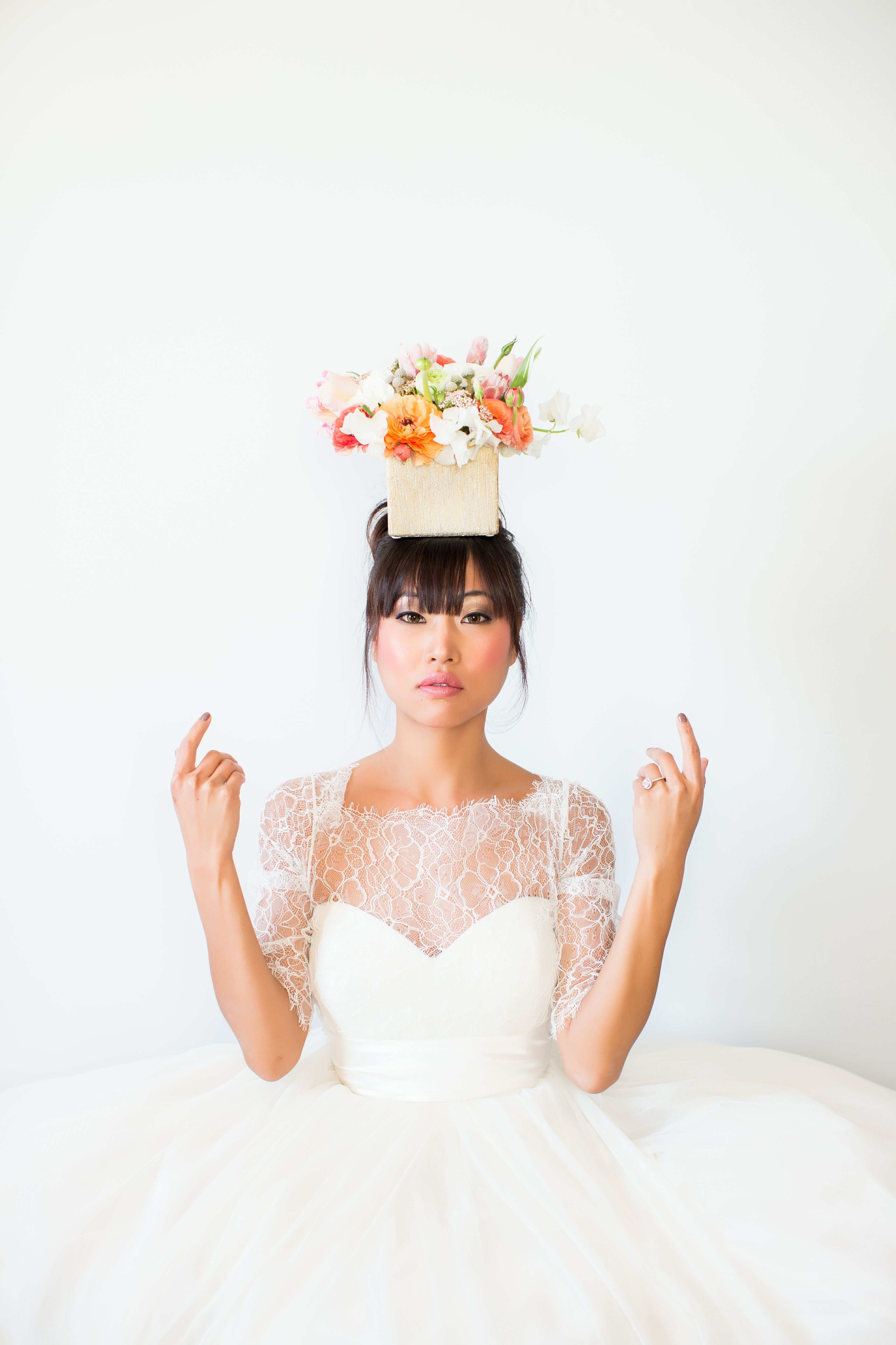 Jenny Yoo Hathaway bridal gown styled by Girl Friday and pic by Poly ...
