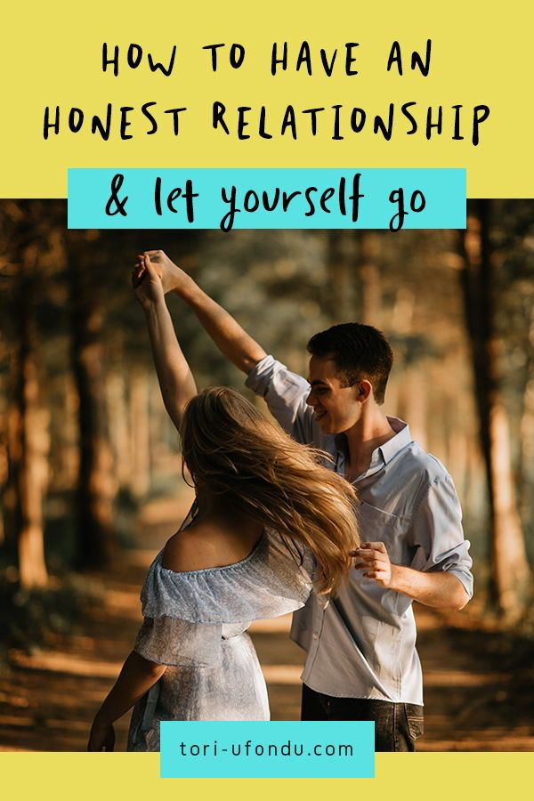 Letting yourself go in relationships, as with anything