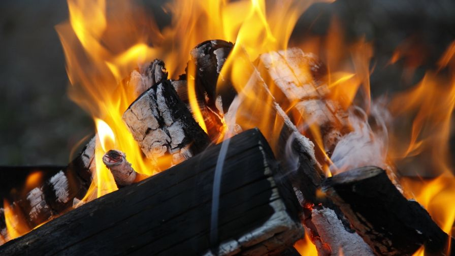 Burning Wood Fire Wallpaper Download Free High Quality Size Resolution