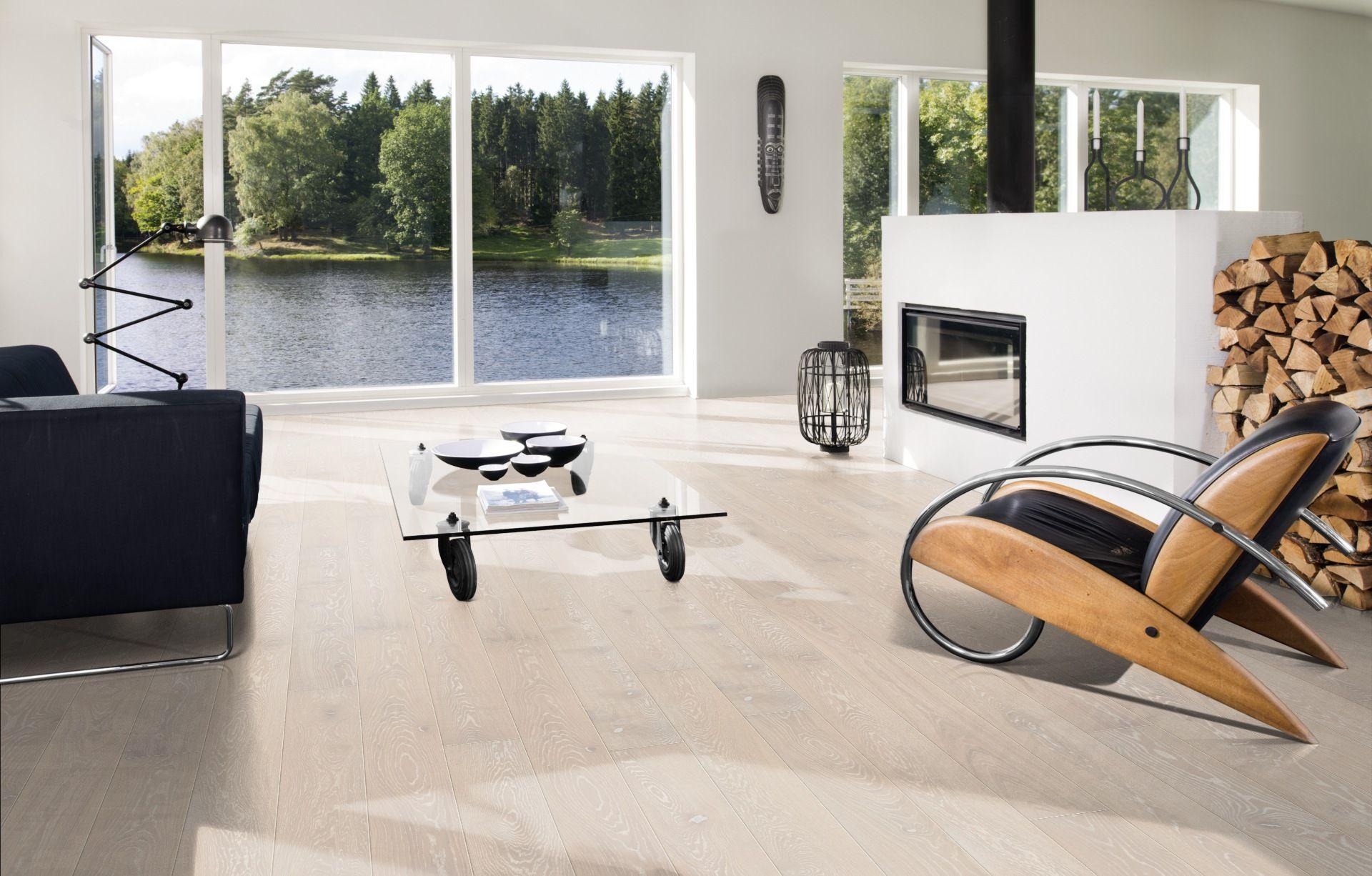 Oak Nouveau Snow Engineered wood floors, Wood floors