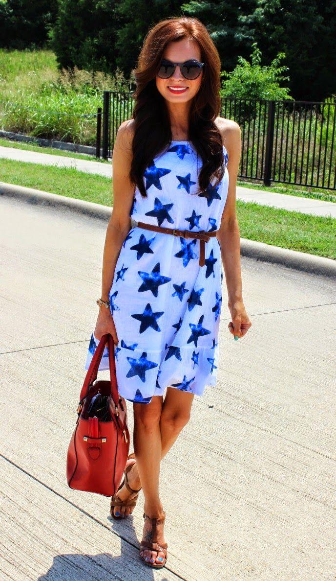 @oldnavy Star Dress and @ddsDISCOUNTS Red Handbag at #BeautyBrawler