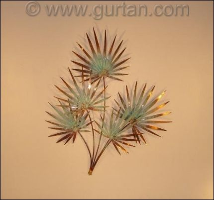 outdoor wall art in copper | Metal Wall Decor Chinese Palm Outdoor ...