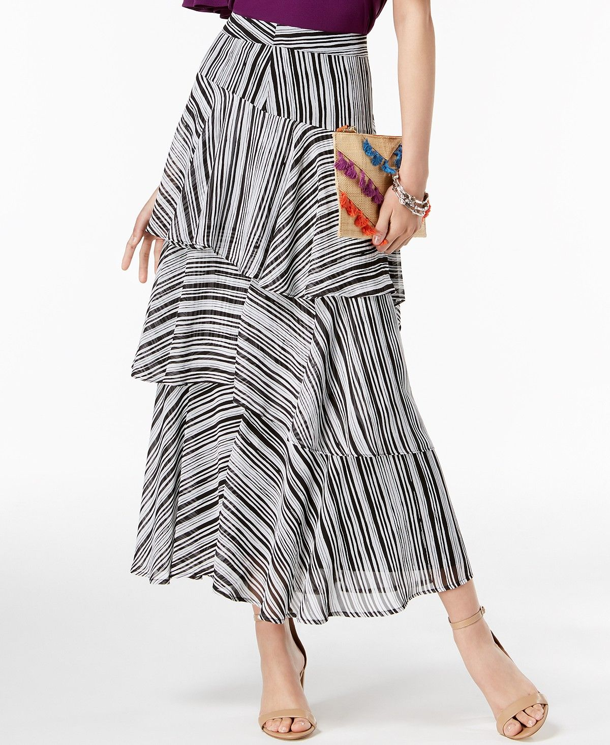 d36744614 I.N.C. Printed Tiered Skirt, Created for Macy's - Women - Macy's ...