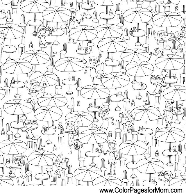 vacation coloring page 4 | Color sheets | Pinterest | Vacation ...