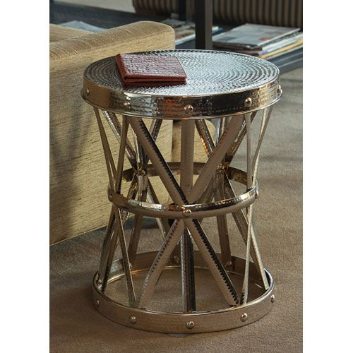 Dessau Home Nickel Garden Seat Accent Table St319 Bellacor Garden Stool Table Living Room Accent Tables Drum Side Table